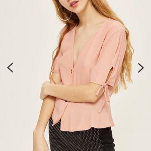 New topshop button blouse